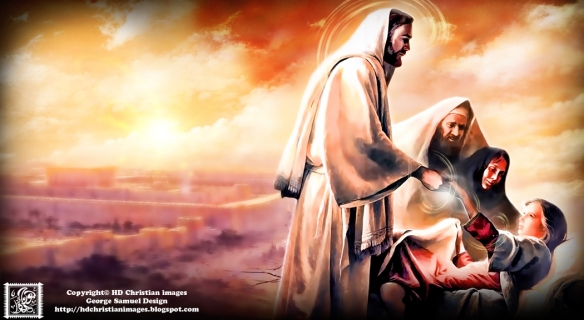 يسوع المسيح يشفي المرضي