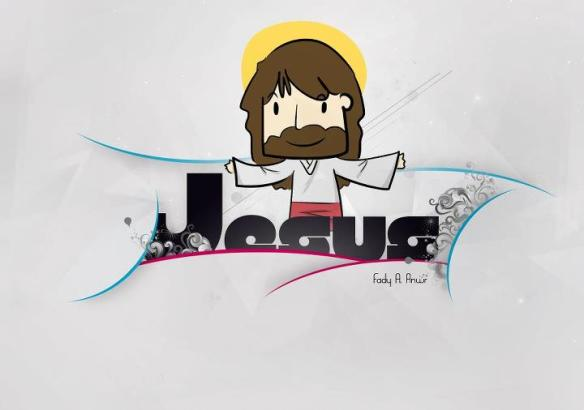 Jesus Cartoon style