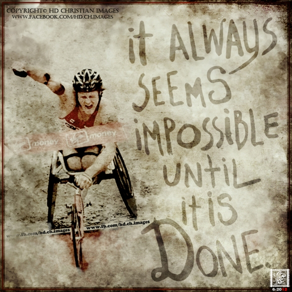 it always seems impossible until it is done Nelson Mandela George Samuel design HD Christian images Hope Quotes