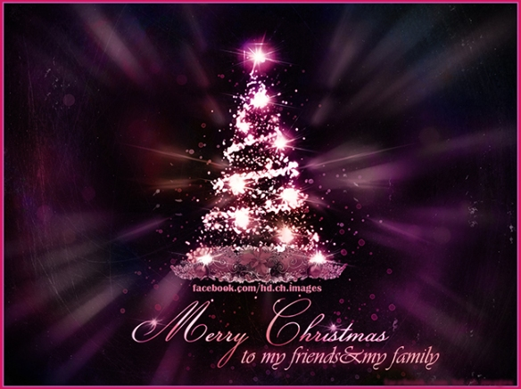 Merry Christmas to my friends and my Family
